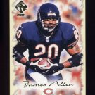 2001 Private Stock Football #016 James Allen - Chicago Bears