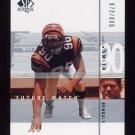 2001 SP Authentic Football #152 Justin Smith RC - Cincinnati Bengals 673/800