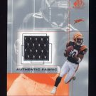 2001 SP Game Used Edition Authentic Fabric #PW Peter Warrick - Cincinnati Bengals Game-Used Jersey