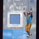 2001 SP Game Used Edition Authentic Fabric #FM Freddie Mitchell RC - UCLA Bruins Game-Used Jersey
