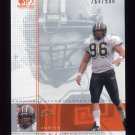 2001 SP Game Used Edition Football #145 Justin Smith RC - Cincinnati Bengals 264/500