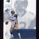 2001 SP Game Used Edition Football #072 Kurt Warner - St. Louis Rams