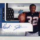 2001 SPx Football #111B Rudi Johnson RC - Cincinnati Bengals AUTO Game-Used Jersey /900