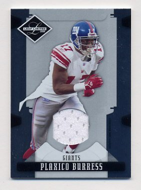 2008 Leaf Limited Threads #066 Plaxico Burress - New York Giants Game-Used Jersey /100