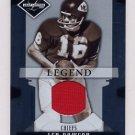 2008 Leaf Limited Threads #156 Len Dawson - Kansas City Chiefs Game-Used Jersey /100