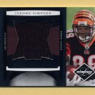 2008 Leaf Limited Rookie Jumbo Jerseys #16 Jerome Simpson RC - Bengals Game-Used Jersey /50