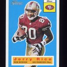 2001 Topps Heritage Football #017 Jerry Rice - San Francisco 49ers