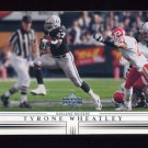 2001 Upper Deck Football #120 Tyrone Wheatley - Oakland Raiders