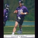 2001 Upper Deck Football #013 Elvis Grbac - Baltimore Ravens