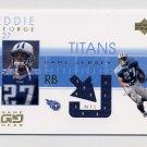 2001 UD Game Gear Jerseys #EG-J Eddie George - Tennessee Titans Game-Used Jersey
