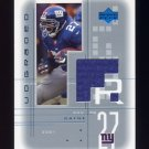 2001 UD Graded Jerseys #RD Ron Dayne - New York Giants Game-Used Jersey