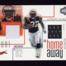 2001 Upper Deck Top Tier Home And Away #HARJ Rudi Johnson RC - Bengals Dual Game-Used Jerseys