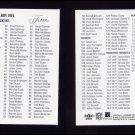 2002 Flair Football NFL Checklist #NNO