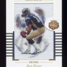 2002 Fleer Focus JE Materialistic Home #01M Kurt Warner - St. Louis Rams