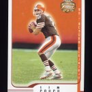 2002 Fleer Focus JE Football #046 Tim Couch - Cleveland Browns