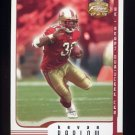 2002 Fleer Focus JE Football #036 Kevan Barlow - San Francisco 49ers