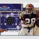 2002 Fleer Maximum Football Dressed To Thrill #07 Corey Dillon - Bengals Game-Used Jersey