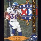 2002 Fleer Throwbacks Super Stars #2 Terrell Davis - Denver Broncos