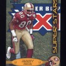 2002 Fleer Throwbacks Super Stars #1 Jerry Rice - San Francisco 49ers