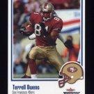 2002 Fleer Throwbacks Football #062 Terrell Owens - San Francisco 49ers