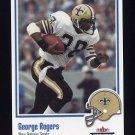 2002 Fleer Throwbacks Football #013 George Rogers - New Orleans Saints