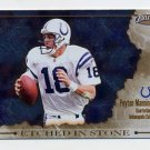 2002 Pacific Exclusive Etched In Stone #5 Peyton Manning - Indianapolis Colts