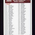 2002 Stadium Club Football NFL Checklist 1 #NNO