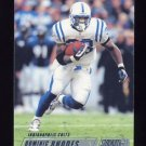 2002 Stadium Club Football #084 Dominic Rhodes - Indianapolis Colts