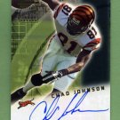 2001 Bowman Football Rookie Autographs #BACJ Chad Johnson RC - Cincinnati Bengals AUTO