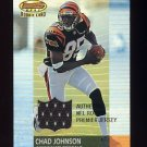 2001 Bowman's Best Football #117 Chad Johnson RC - Cincinnati Bengals Game-Used Jersey