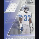 2001 Donruss Classics Team Colors #TC39 Sedrick Irvin - Detroit Lions Game-Used Jersey