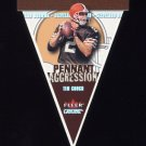 2001 Fleer Genuine Pennant Aggression #10 Tim Couch - Cleveland Browns