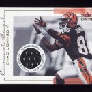 2001 Fleer Genuine Football #144 Chad Johnson RC - Cincinnati Bengals Game-Used Jersey /1000