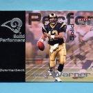 2001 Fleer Premium Solid Performers #13 Kurt Warner - St. Louis Rams