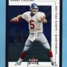 2001 Fleer Premium Football #169 Kerry Collins - New York Giants
