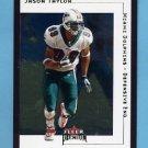 2001 Fleer Premium Football #103 Jason Taylor - Miami Dolphins