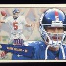 2001 Fleer Tradition Football #105 Kerry Collins - New York Giants