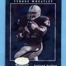 2001 Leaf Certified Materials Football #096 Tyrone Wheatley - Oakland Raiders