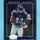 2001 Leaf Certified Materials Football #079 Shannon Sharpe - Baltimore Ravens