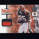 2001 Leaf Rookies And Stars Freshman Orientation #FO25 Chad Johnson RC - Bengals Game-Used Jersey