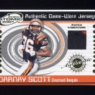 2001 Pacific Prism Atomic Jersey Patches #114 Darnay Scott - Bengals Game-Used Jersey