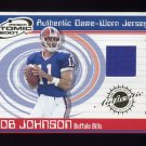 2001 Pacific Prism Atomic Jerseys #009 Rob Johnson - Buffalo Bills Game-Used Jersey