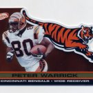 2001 Pacific Prism Atomic Gold #032 Peter Warrick - Cincinnati Bengals 028/116