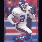 2000 Donruss Football #095 Tiki Barber - New York Giants