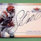 2000 Fleer Tradition Autographics #37 Corey Dillon - Cincinnati Bengals AUTO