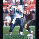 2000 Pacific Football #382 Neil O'Donnell - Tennessee Titans