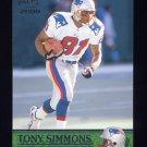 2000 Pacific Football #225 Tony Simmons - New England Patriots