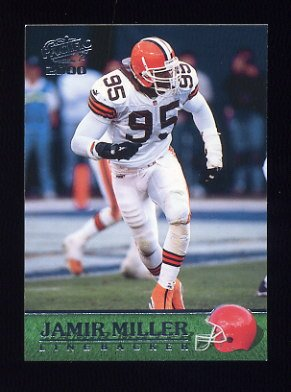 2000 Pacific Football #092 Jamir Miller - Cleveland Browns