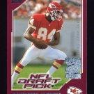 2000 Topps Season Opener Football #212 Sylvester Morris RC - Kansas City Chiefs