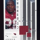 2000 UD Graded Jerseys #GTJ Thomas Jones - Arizona Cardinals Game-Used Jersey